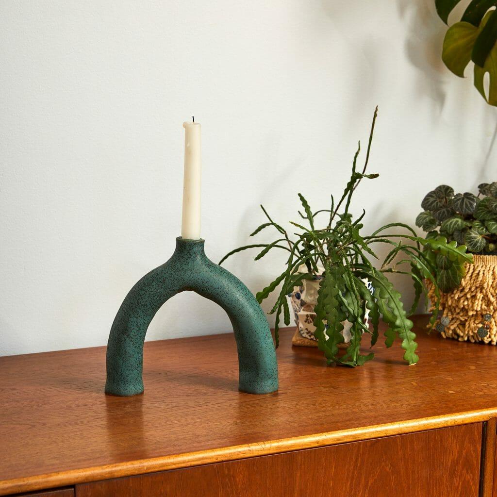 green-leggy-ceramic-handmade-pottery-home-candleholder