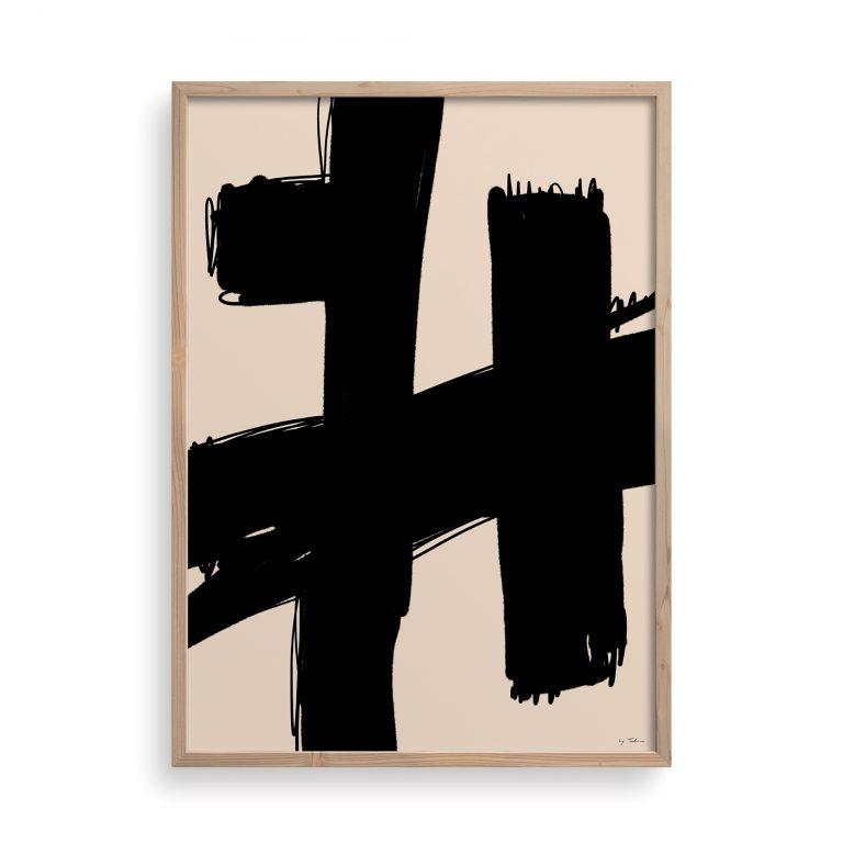 painted-art-print-abstract-shapes-framedart-black-brushstrokes