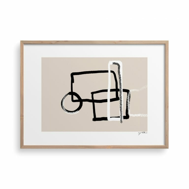 trace-03-art-print-lines-drawing-painting-abstract-beige-shapes-framed-artwork