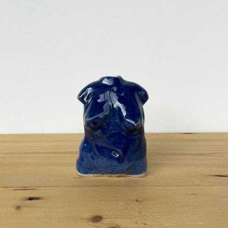 woman-ceramic-blue-glaze-handmade-pottery-clay-figure