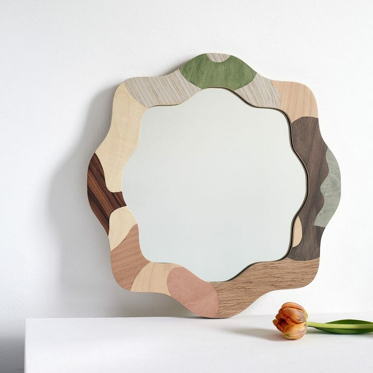 small-round-curved-mirror-marquetry-design-organic-shape