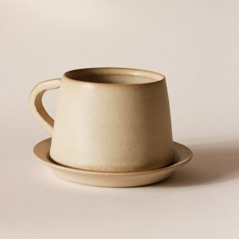 tapered-cup-and-saucer-warm-white-ceramic-tableware