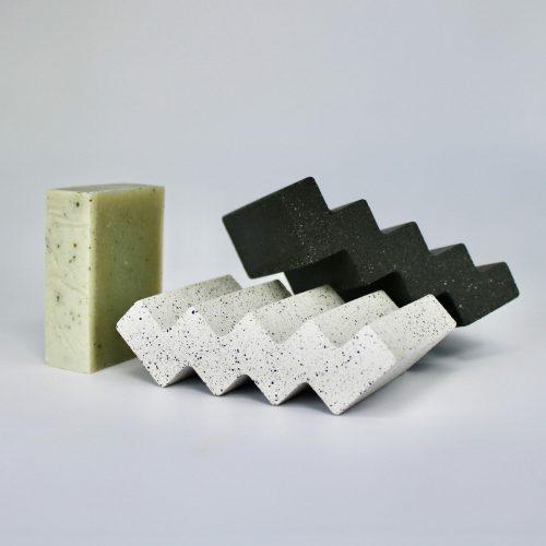 black-zigzag-dish-bar-soap