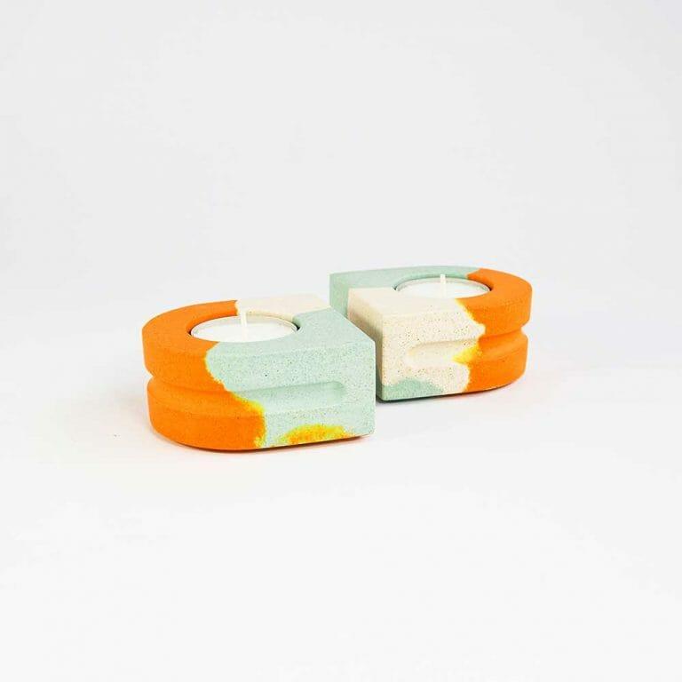 set-of-2-tealight-holders-splodge-tangerine
