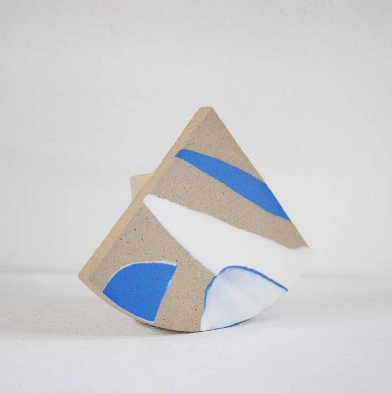 Summit shape-vase-blue-and-white-ceramic